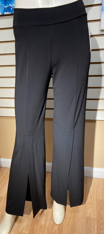 Clara Front Slit Pant Black M