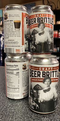 B J Chocolate Peanut Butter Porter Beer Can Brittle