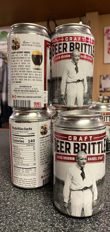 B J Bacon Bourbon Barrel Stout Beer Can Brittle