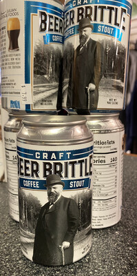 B J Coffee Stout Beer Can Brittle