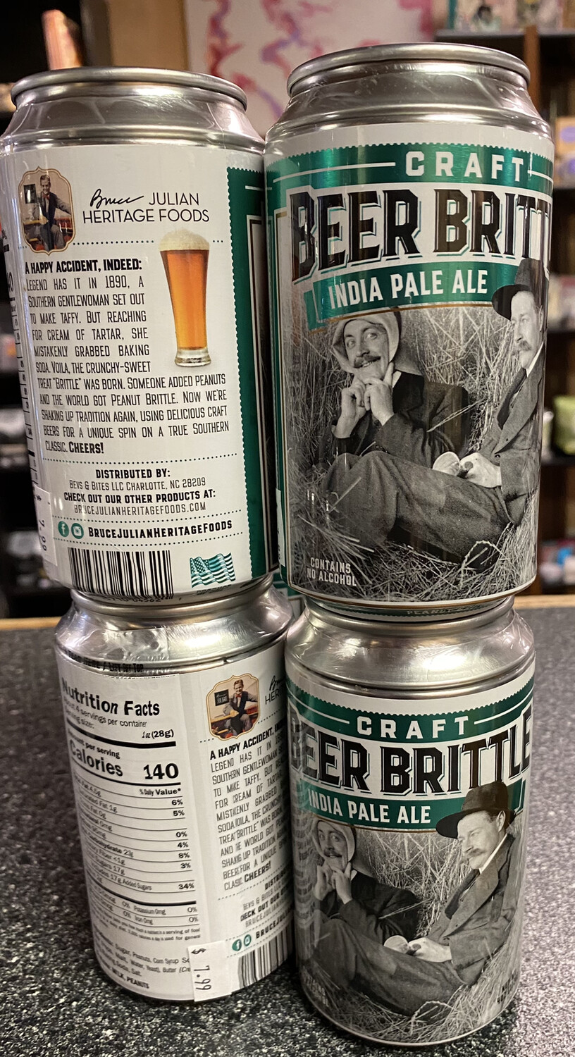 B J India Pale Ale Beer Can Brittle