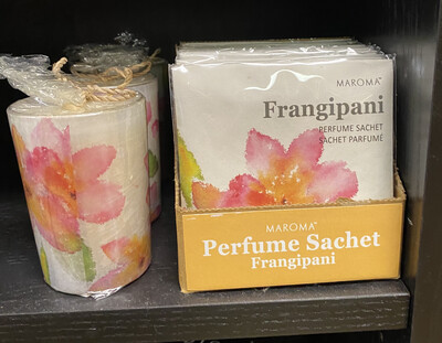 Maroma Frangipani Candle Matching Sachet Available