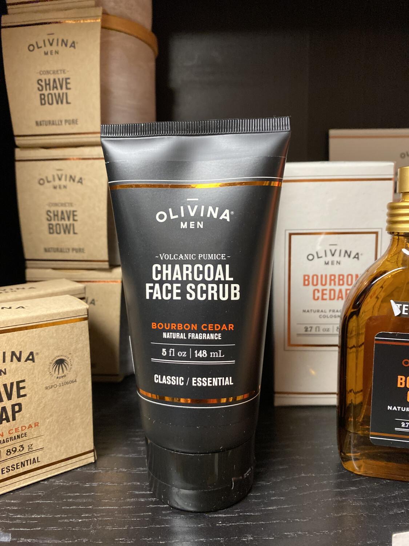 Olivina Charcoal Face Scrub Bourbon Cedar