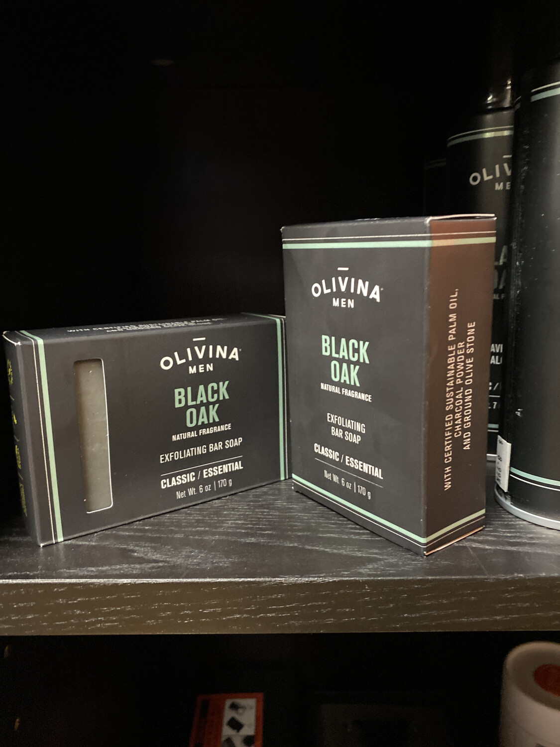 Olivina Men Black Oak Soap