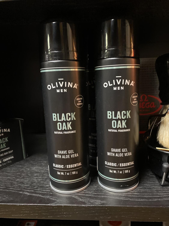 Olivina Black Oak Shave Gel 7oz