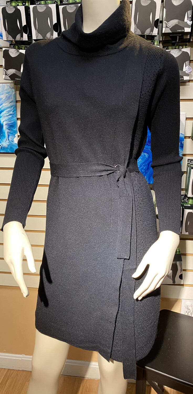 Coco Tunic Sweater Dress Black XXL
