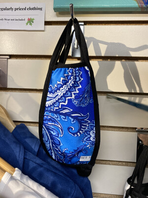 Inside Out Mask 3 Layer Mask Blue Wht Paisley