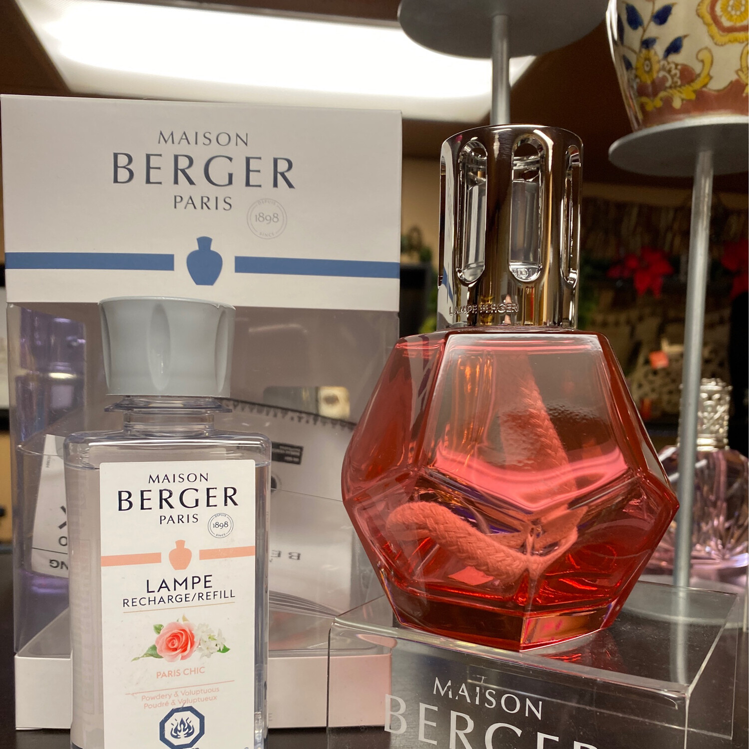 Maison Berger Geometry Coral Gift Set With Paris Chic A Powdery & voluptuous