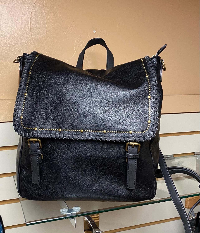 Amphere Vegan Bag/back Pack Combo Black
