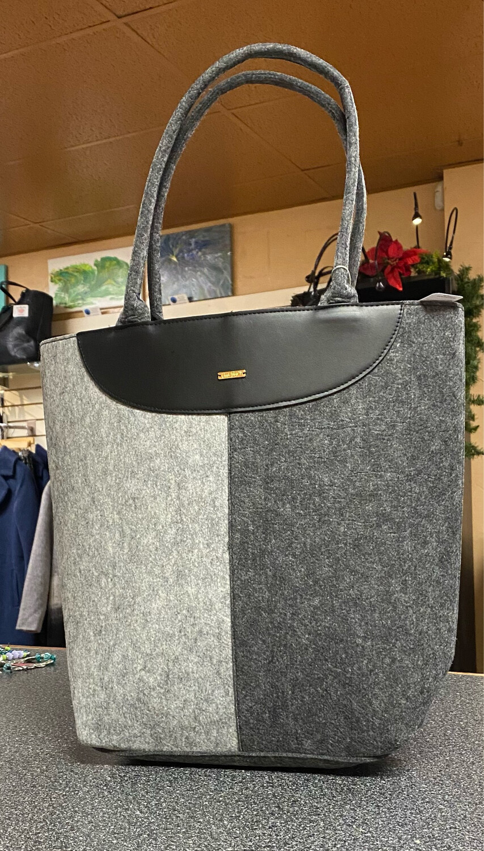 GC Charlie Paige Gray Charcoal Tote Bag