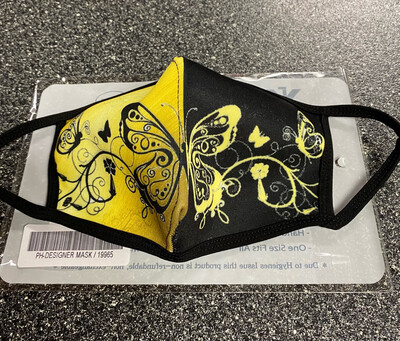 V Mask Yellow Butterfly