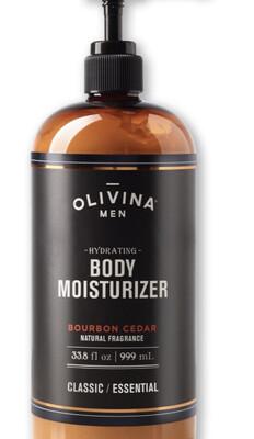 Olivina Bourbon Cedar Body Moisturizer 33.8 oz Large