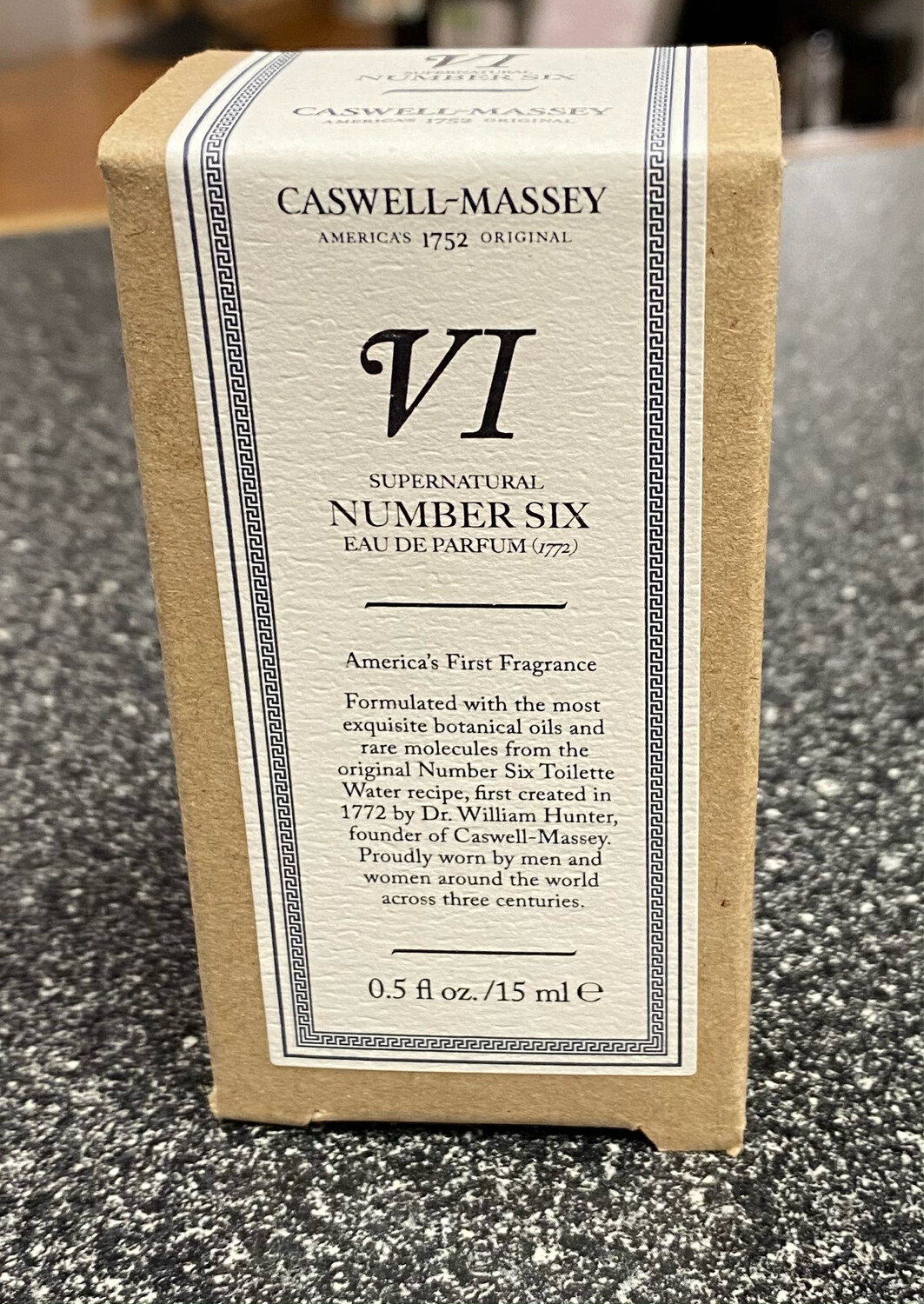 CasWell Massey Number VI Six Travel Cologne 0.5 oz The Original.