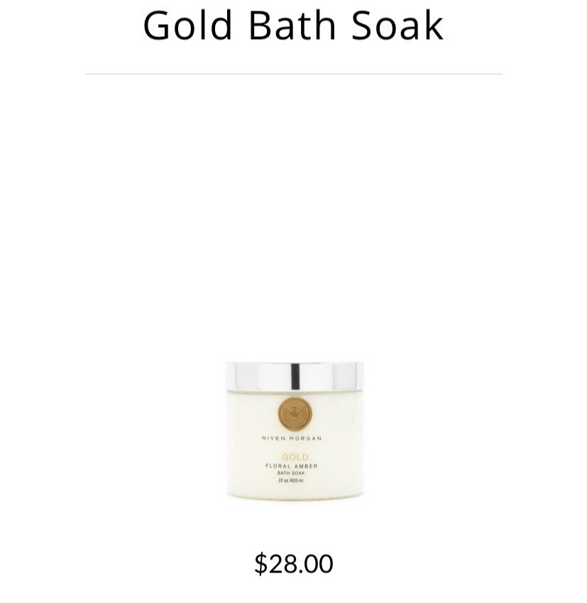 Niven Morgan Gold Salt Bath
