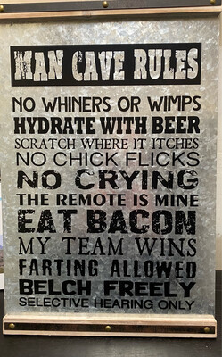 GC Man Cave Rules Wall Decor