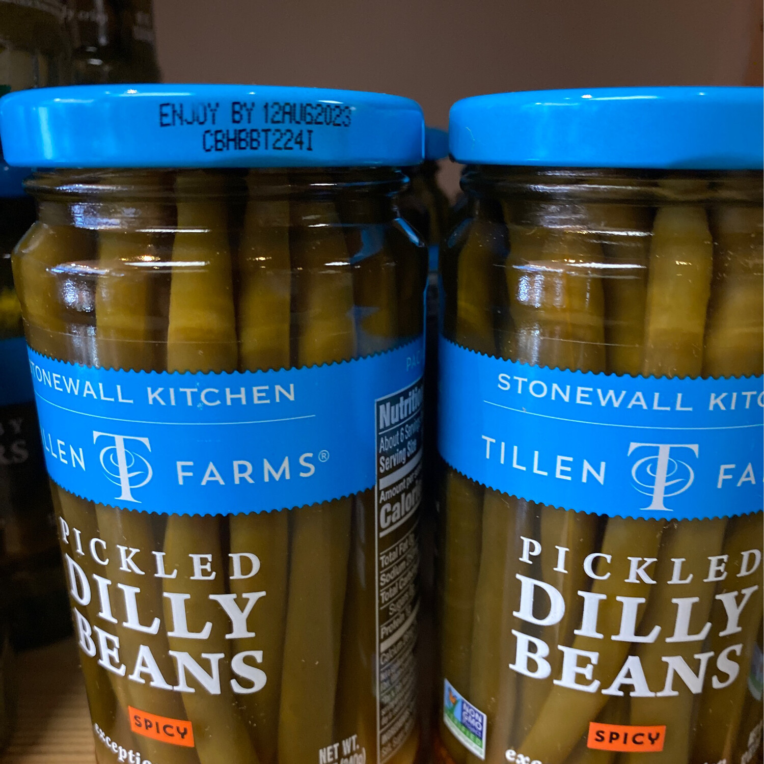 Pickled Dilly beans Spicy