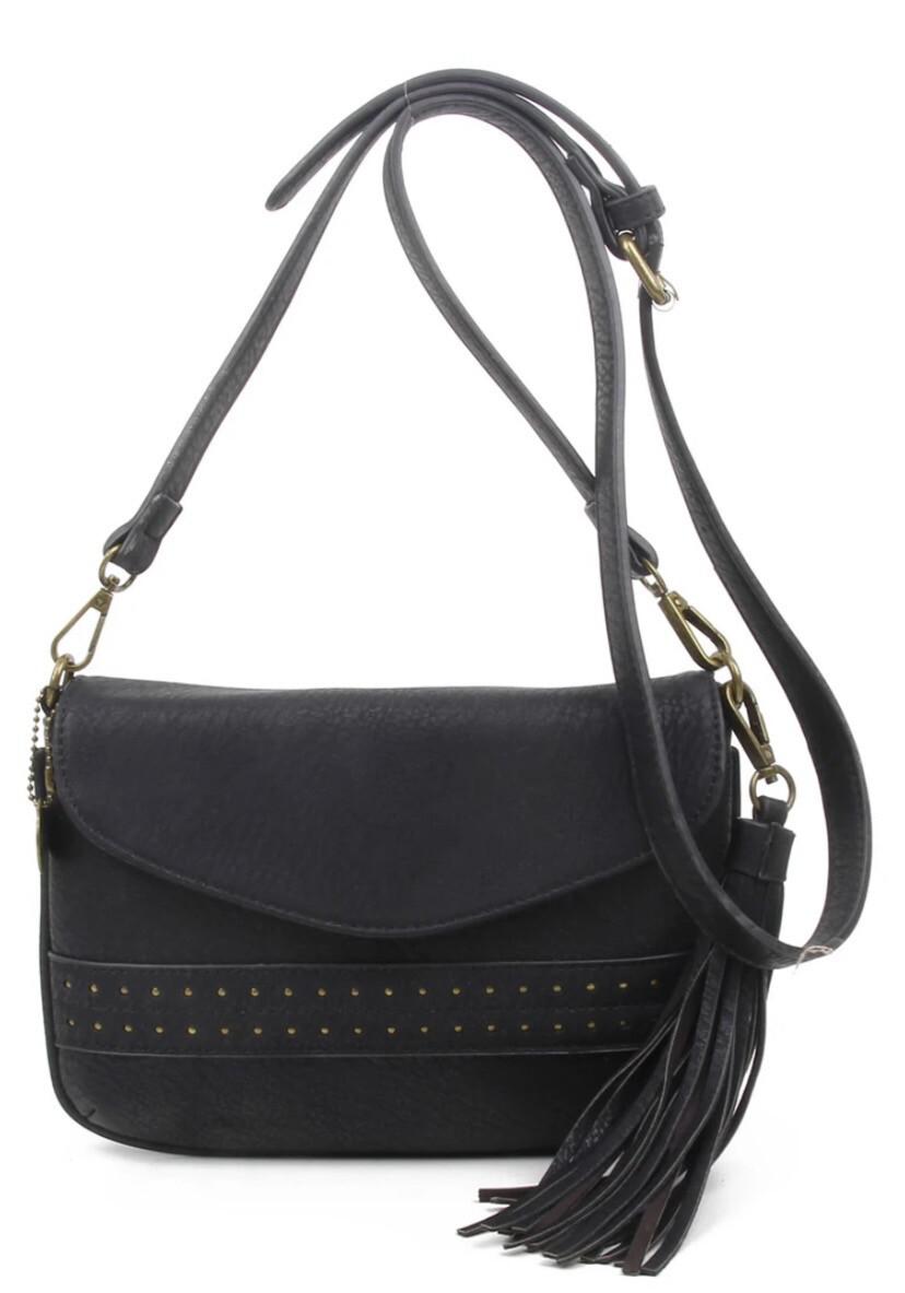 Alice Vegan Bag Tasseled Black