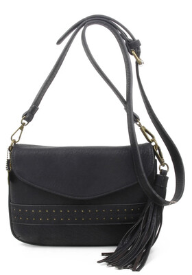 Alice Vegan Bag Tasseled Black