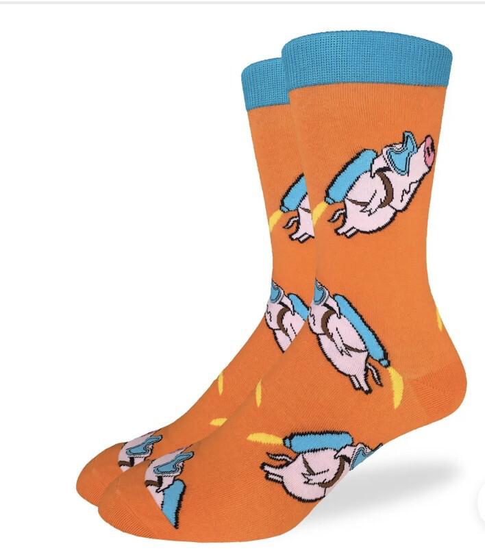 Flying Pig Sock