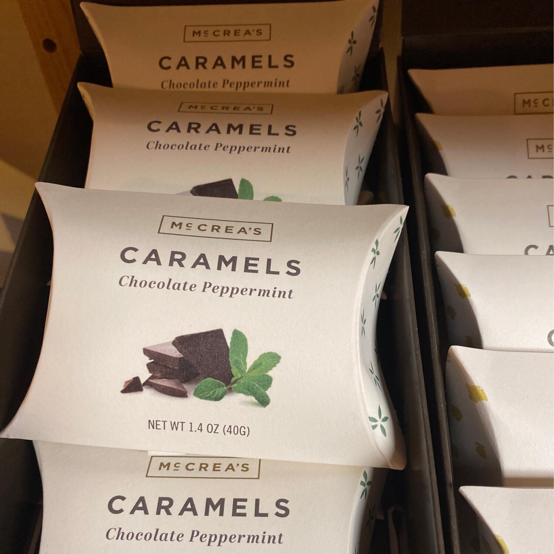 McCrea's Chocolate Peppermint Caramel Pillow