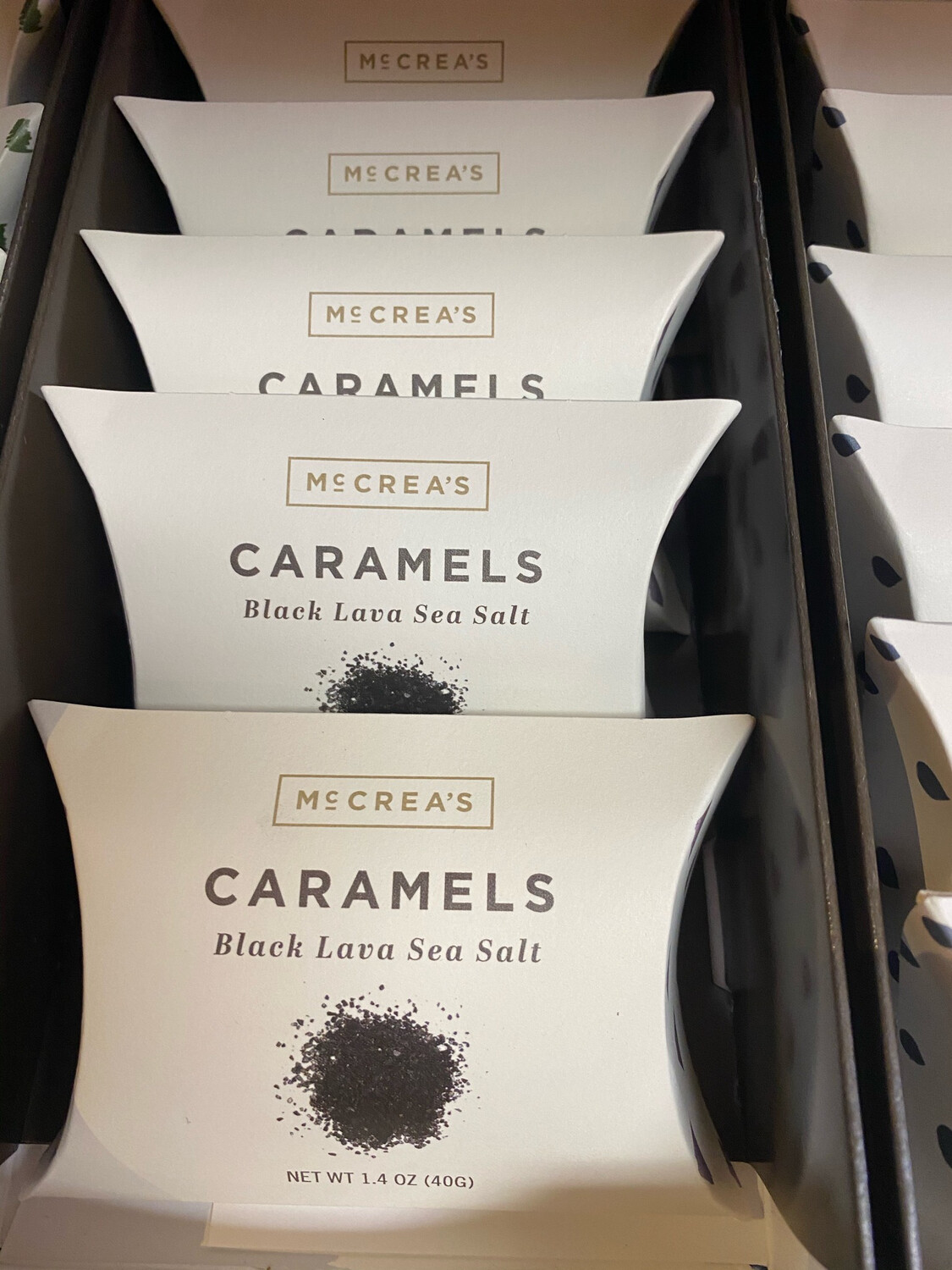 McCrea's Black Lava Sea Salt Caramel Pillow Box