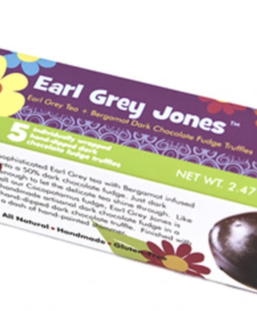 Earl Grey Jones Earl Grey Tea + Bergamot Dark Chocolate Fudge Truffles