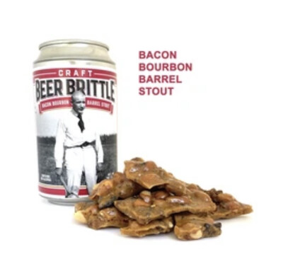 B J Bacon Bourbon Barrel Stout Beer Can Brittle