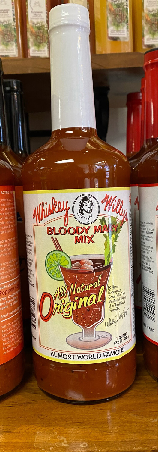 Whiskey Willies All Natural Bloody Mary Mix