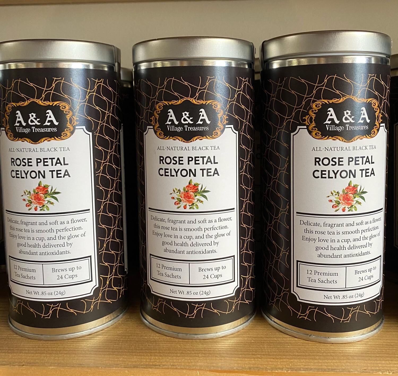 A&A All Natural Black Tea Rose Petal Celyon Tea