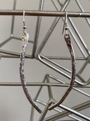 """A&A 7 Sterling Silver Curved Bar 3"""" Drop"""