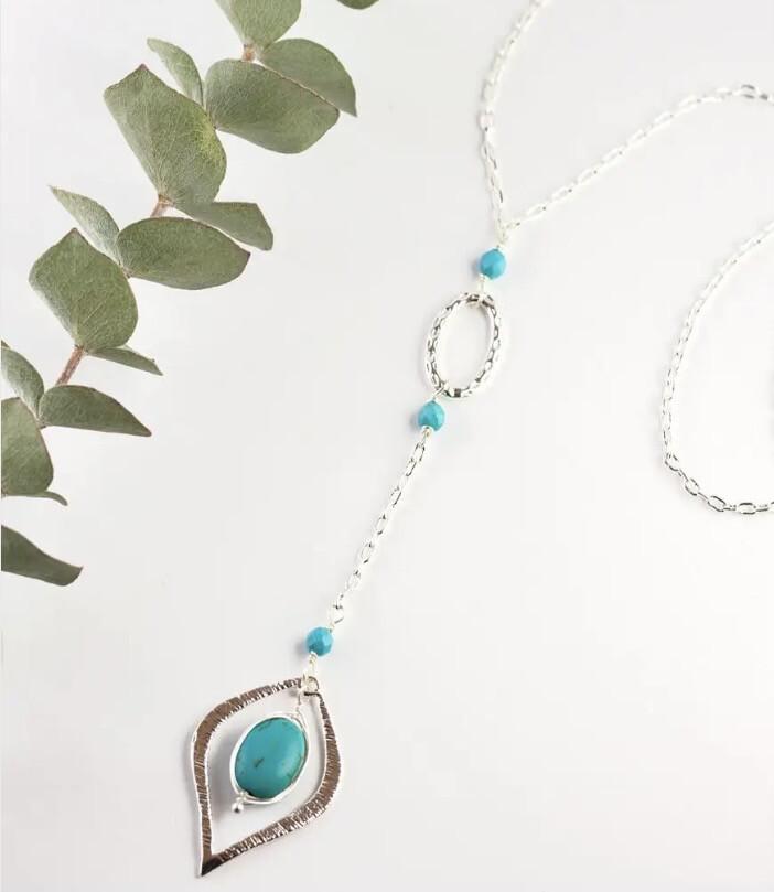 WA Kaimana Necklace Silver Turquoise