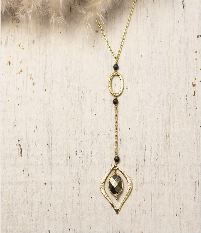 WA Kaimana Necklace Gold Pyrite