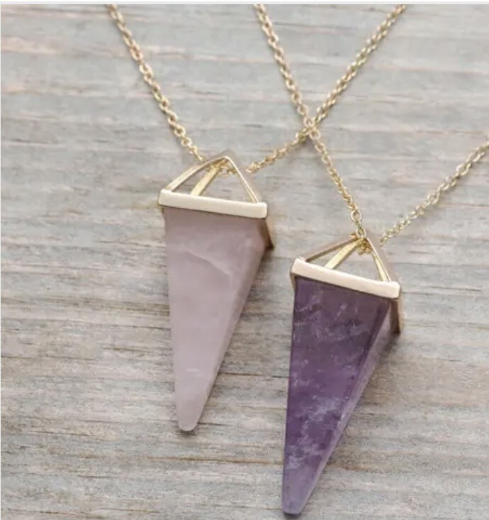 WA Ata Necklace Gold Amethyst