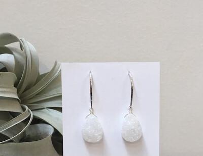 WA Cosmos Ear Ring Silver\white