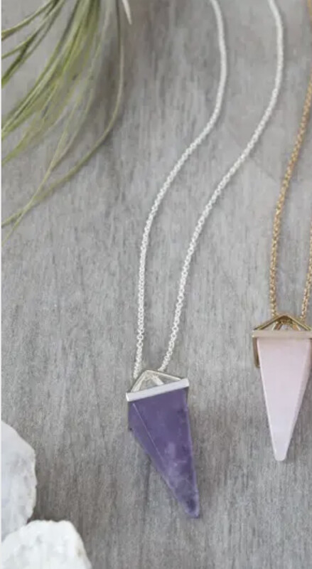 WA Ata Necklace Silver Amethyst