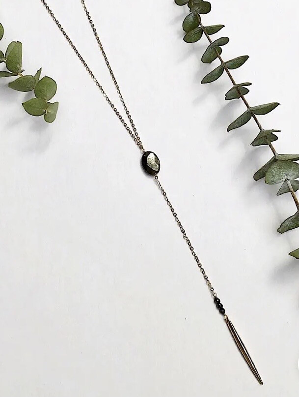 WA Altruism Necklace Gold Pyrite