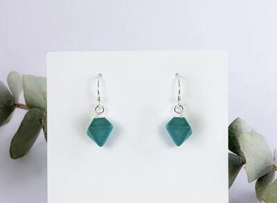 WA Diamond Drops Ear Ring Silver Turquoise