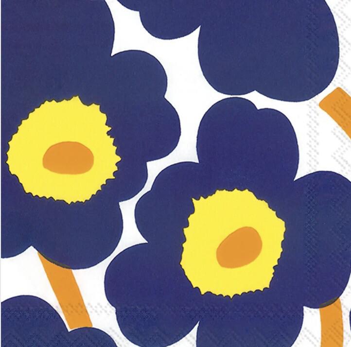 BI Marimekko Dark Blue Napkin