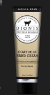 Dionis Goat Milk Hand Cream 1oz Vanilla Bean