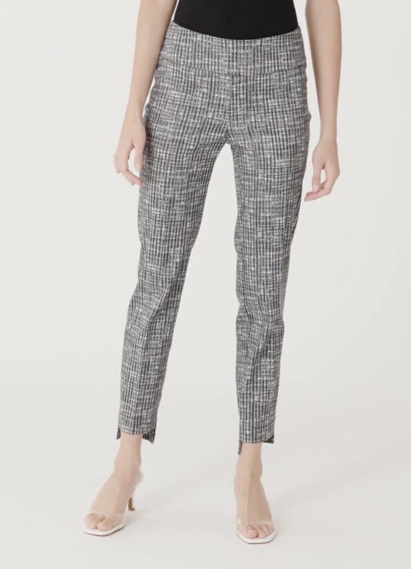 Up Grey Hi Low Weave Pant 6