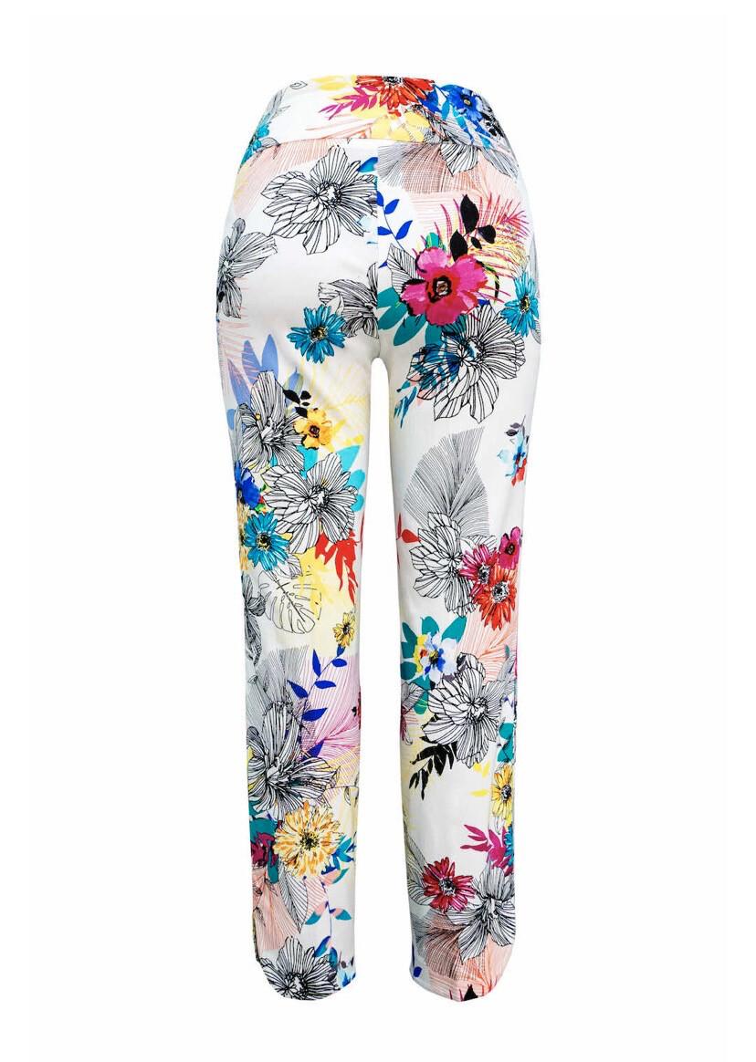 Up Petal Slit Pant Summer Flowers Size 14