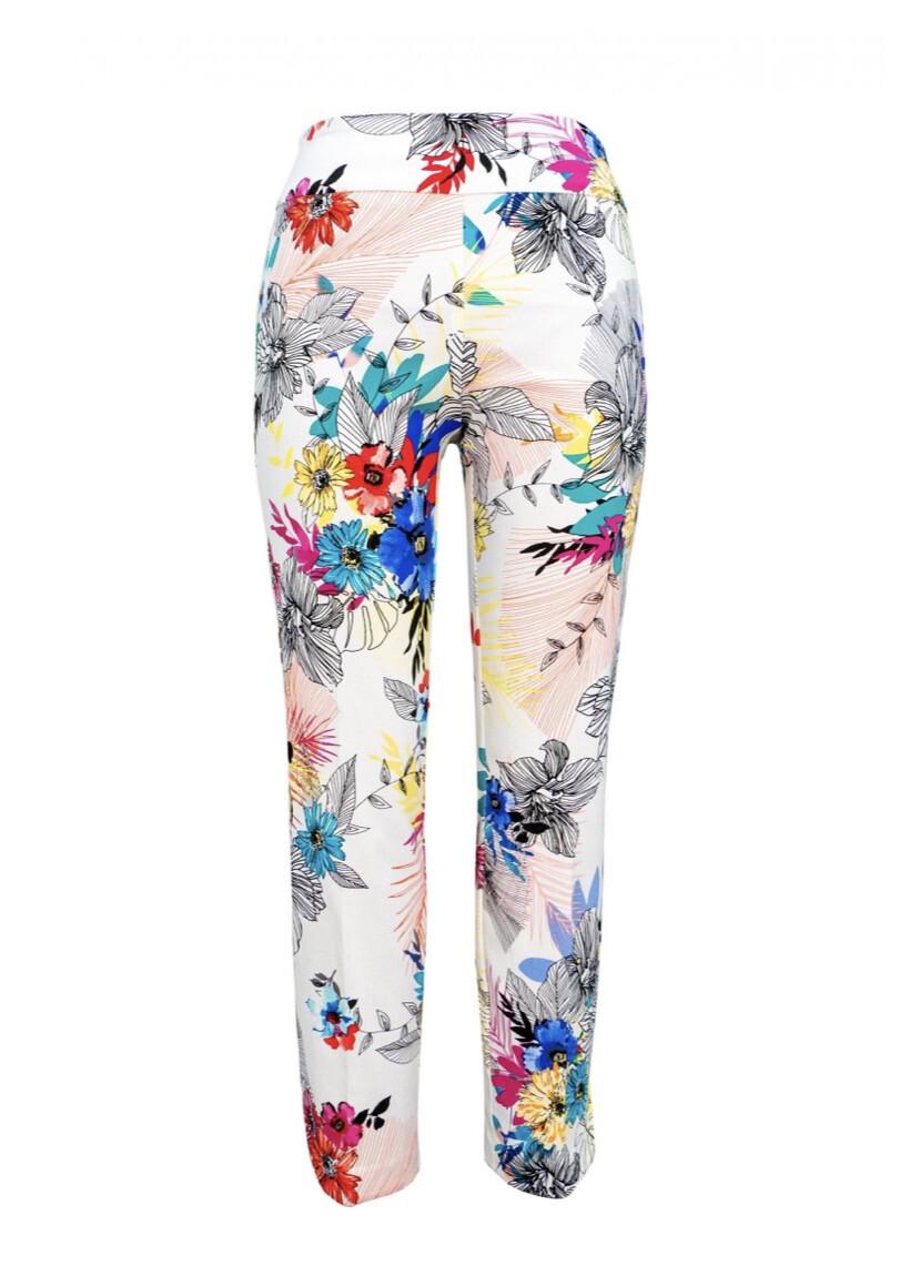 Up Petal Slit Pant Summer Flowers Size 8