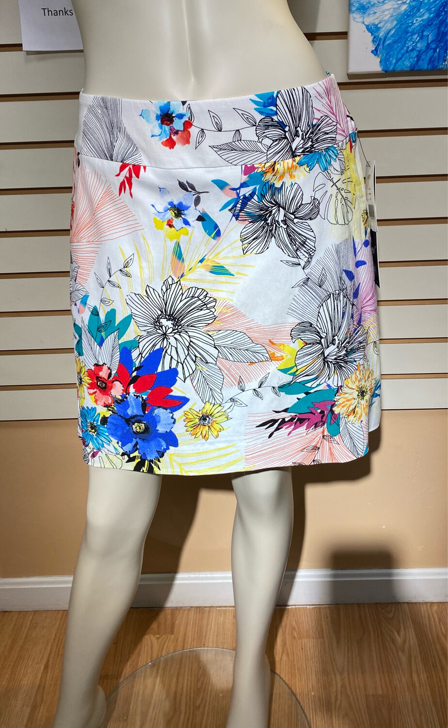 Up Skort Summer Flowers Size 2