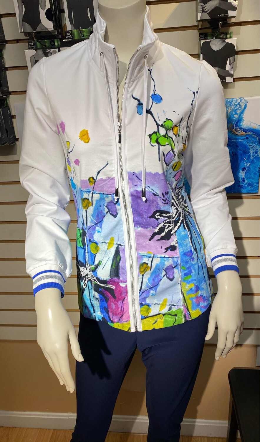 """Dolcezza Zip Jacket """"Still Life For A Wedding Party"""" XL"""