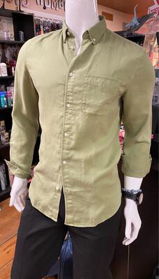 Tencel Linen Shirt Sage Medium