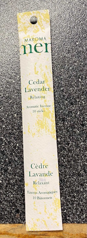 Maroma Cedar Lavender Relaxing Incense