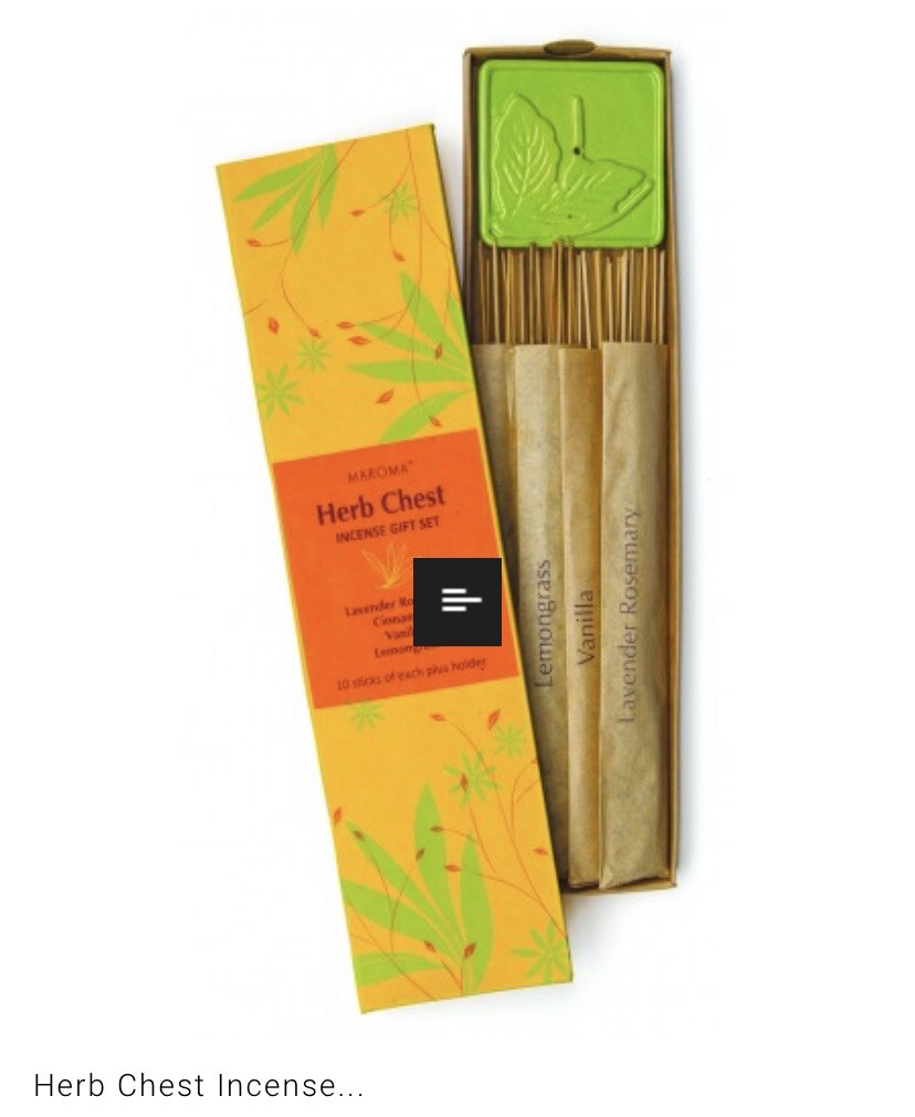 Maroma Herb Chest Incense Set