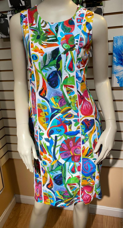 Dolcezza Slvless Dress Flower Heart XS