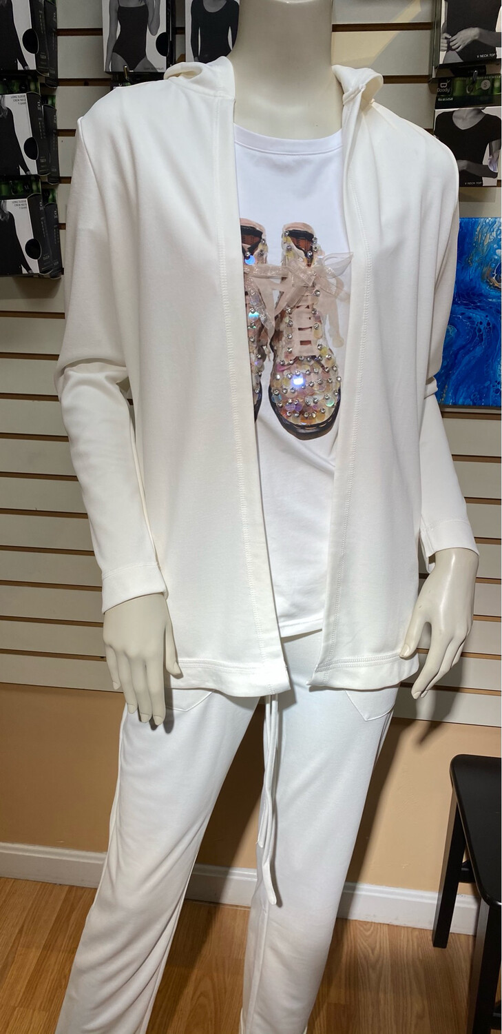 Coco Modal Cardigan Off White XS Matching Pant Available