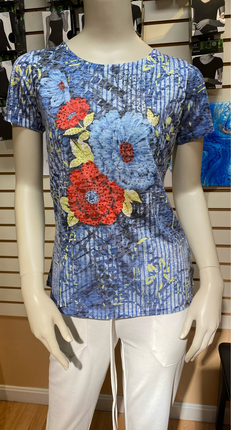 Coco Glitter Flowers Navy XL